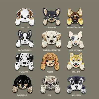 Cute Dog Pattern Clothing Patches Iron on Badge Embroidery DIY Jeans Decoration