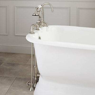 Allister Deck Mount Tub Faucet with Hand Shower Supplies Drain for Copper Pipe