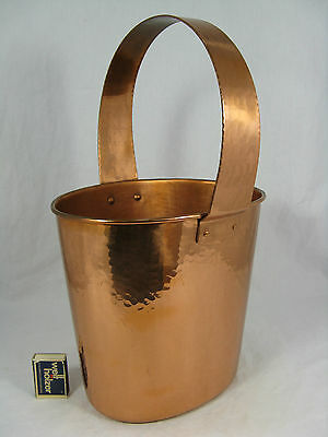 Well shaped handmade 60´s Eugen Zint copper champagner cooler /  Sekt Kühler