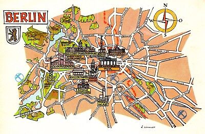 Vintage Germany Picture Map Berlin Germany Pictorial Map Cartoon Map Fra 4482