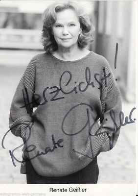 Renate Geißler TOP AK 80er Jahre Orig. Sign. u.a. Die Cleveren +46444