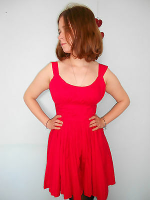 topshop cute 50s style red dress