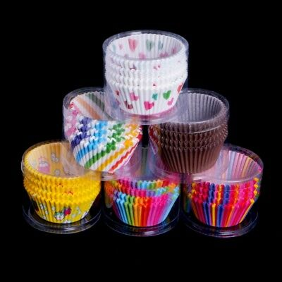 100Pcs Mini Cupcake Liners Paper Cake Baking Cup Muffin Cases Xmas Wedding Party
