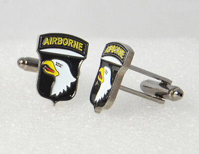 American Army Cufflinks 101st AIRBORNE DIVISION - WW2 Style US Screaming Eagles