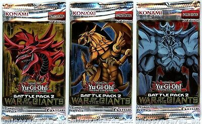Battle Pack 2: War of the Giants 1st Edition Sealed YuGiOh Mix Booster Packs x3