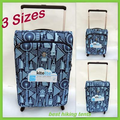 Kite Lite Spinner Luggage Travel Suitcase Rolling Briefcase Trolley 3Size BN NEW