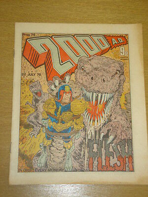 2000Ad #74 British Weekly Comic Judge Dredd *