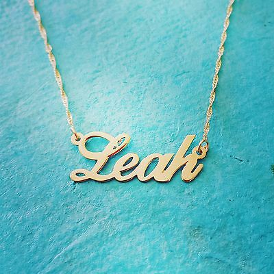 75a5264c47b16b My Name Necklace - Solid 14k Gold Personalized Nameplate Necklace -  onecklace