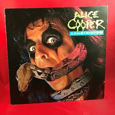 ALICE COOPER Constrictor 1986 UK vinyl LP Friday the 13th Part VI EXCELLENT COND