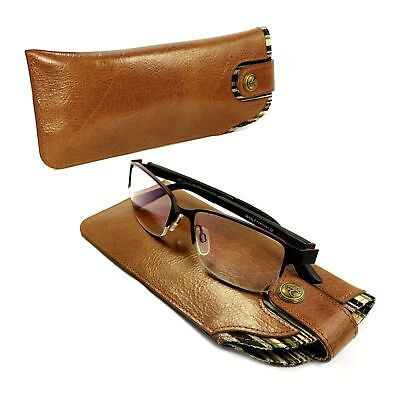 Alston Craig Vintage leather case for Glasses / Sunglasses Brown
