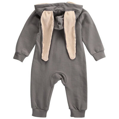 Hot Kid Baby Boys Girls Outfits Clothes Cotton Romper Jumpsuit Sets Warm Winter
