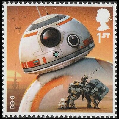 UK Star Wars Characters BB-8 single (1 stamp) MNH 2017
