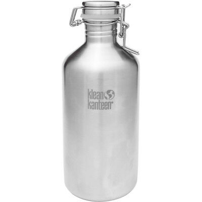 Klean Kanteen Classic 64 oz. Growler with Swing Lok Cap - Brush Stainless