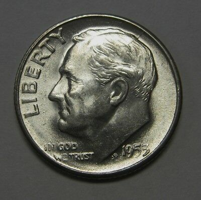 Free Shipping 1947 Roosevelt Dime   Choice to Gem Uncirculated