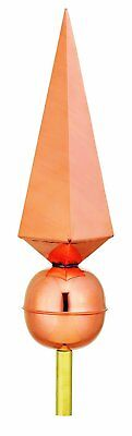 Lancelot Polished Copper Rooftop Finial by Good Directions