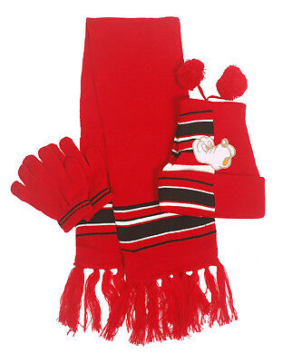 Lovely Boys Girls Dog Knit Pom Beanie Hat Tassel Scarf Gloves Winter 3 pcs Set
