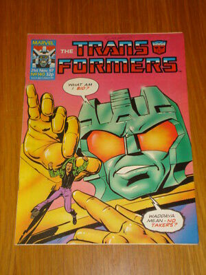 Transformers British Weekly #140 Marvel Uk Comic 1987