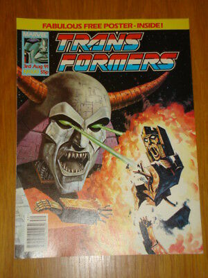 Transformers British Weekly #320 Marvel 1991 Scarce With Free Gift Poster
