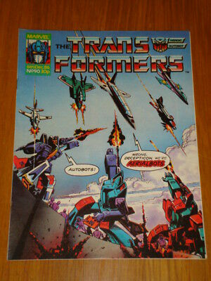 Transformers British Weekly #90 Marvel Uk Comic 1986