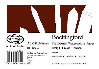 A5 Curtisward Bockingford Rough Watercolour Paper Pad. For Artists Water Colour