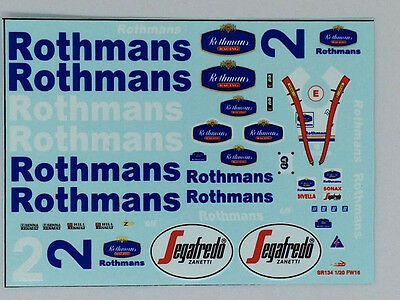 1/20 Williams F1 FW16 Rothmans conversion decal for F1 Diecast / Model car