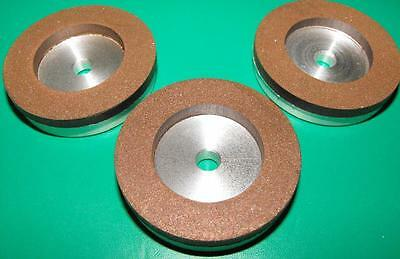 Set of (3) 2inch Diamond wheels 230, 600 and 1200grit gravers watchmakers lathe