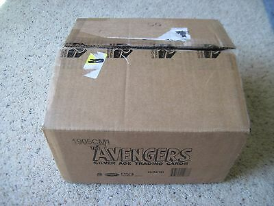 The AVENGERS  EMPTY Display 12 Box Collector CASE No Cards Rittenhouse Marvel #A
