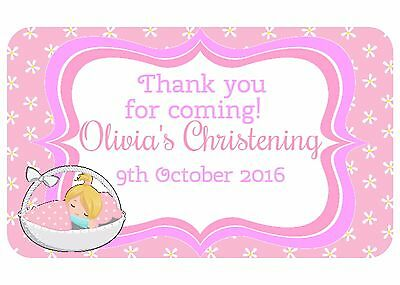 21 Personalised Gloss Baby Shower/ Christening Party , Thank You Stickers 214
