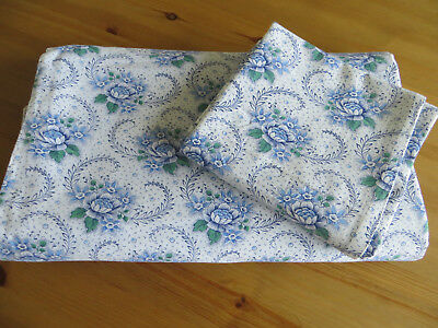 Vintage   Set of Duvet Cover + Pillowcase Sham Cotton Floral Pattern Germany