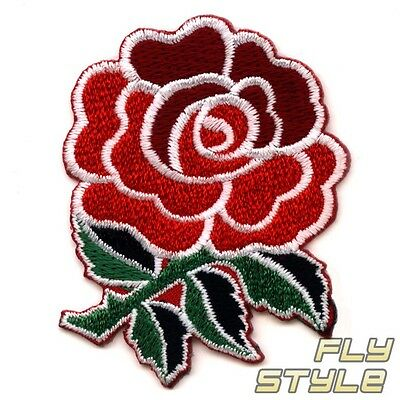 SEW ON PATCH Rose Rockabilly Punk Rock Flower Hot Rod GNR GOTH iron-on