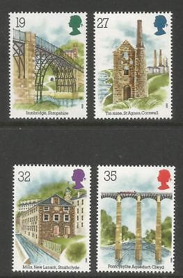 Great Britain 1989 Industrial Archeology--Attractive Topical (1280-83) MNH