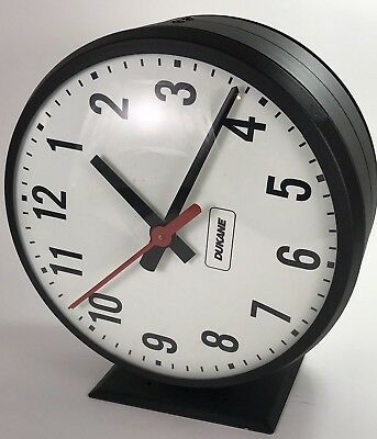 "Dukane Double Sided Electric Mounted Wall School Clock 12"" Model 24SS12RFAGC"
