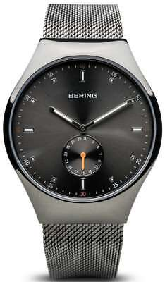 Bering Time - Smart Travler - Mens Grey Mesh Watch Bluetooth Connected 70142-077