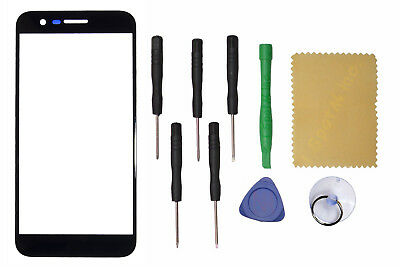 Black Outer Front Screen Glass Lens Replacement For LG K20 Plus/K20 V +Tools