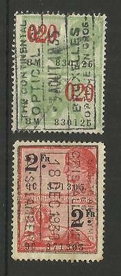 Belgium Belgique Belgie ~ Revenue & Railway Stamps (1875 - 1921) Most Used