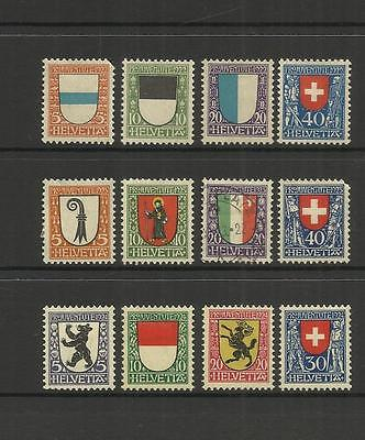 Switzerland ~ 1922-1926 Pro Juventute Children Charity Stamps (Used)