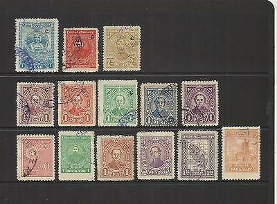Paraguay~ 1922-28 Interior Office Use & Local Printings (Part Sets)