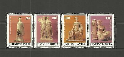 Jugoslavija Yugoslavia ~ 1988 Greek Terracotta Figures (Mint Mnh Set)