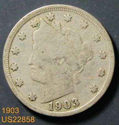 1903 circulated LIBERTY V NICKEL