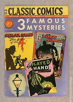 Classics Illustrated 021 3 Famous Mysteries 1B 1944 FN- 5.5