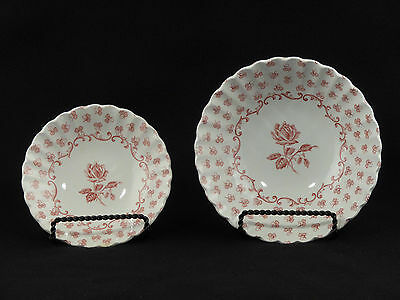 J & G Meakin CLASSIC WHITE Cereal & Sauce Bowl w/ Pink Rose