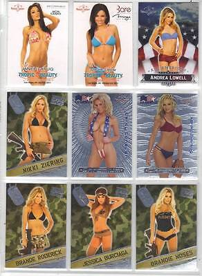 Stevie Leow 2011 Benchwarmer Tropic & Beauty Trio Promo Card Mirage/bare #23