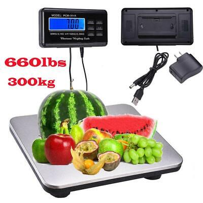 New 660lb/0.1lb Digital Scale Bench Scale Digital Shipping Postal Scale Platform