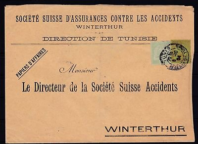 Tunesien Brief nach Winterthur/Schweiz, 1904 (43637
