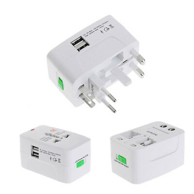 Universal Travel AC Power Charger Adapter Lead Converter Port AU UK US EU Plug