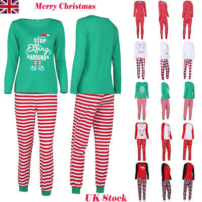 HOT Women Ladies Christmas Pajamas PJs Sets Xmas Sleepwear Nightwear UK STOCK