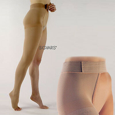 SIGVARIS 860 SELECT THIGH HIGH COMPRESSION STOCKINGS w/ WAIST ATTACH RIGHT S2