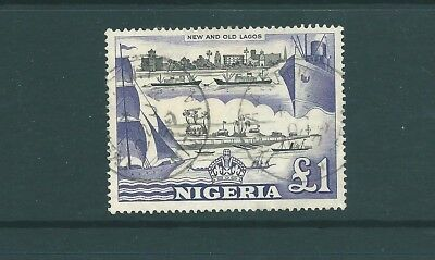 NIGERIA - 1953 top value - £1 used SG80