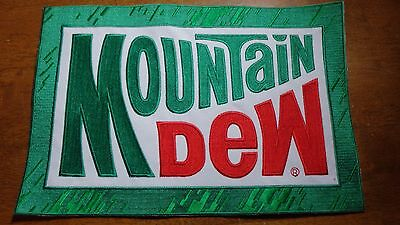 Vintage Mountain Dew Soda  Back Patch  11 X 7 1/4' 1960's  Bx Xl