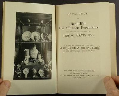 Antique Chinese Porcelains - Deming Jarves Collection 1909 Auction Catalog